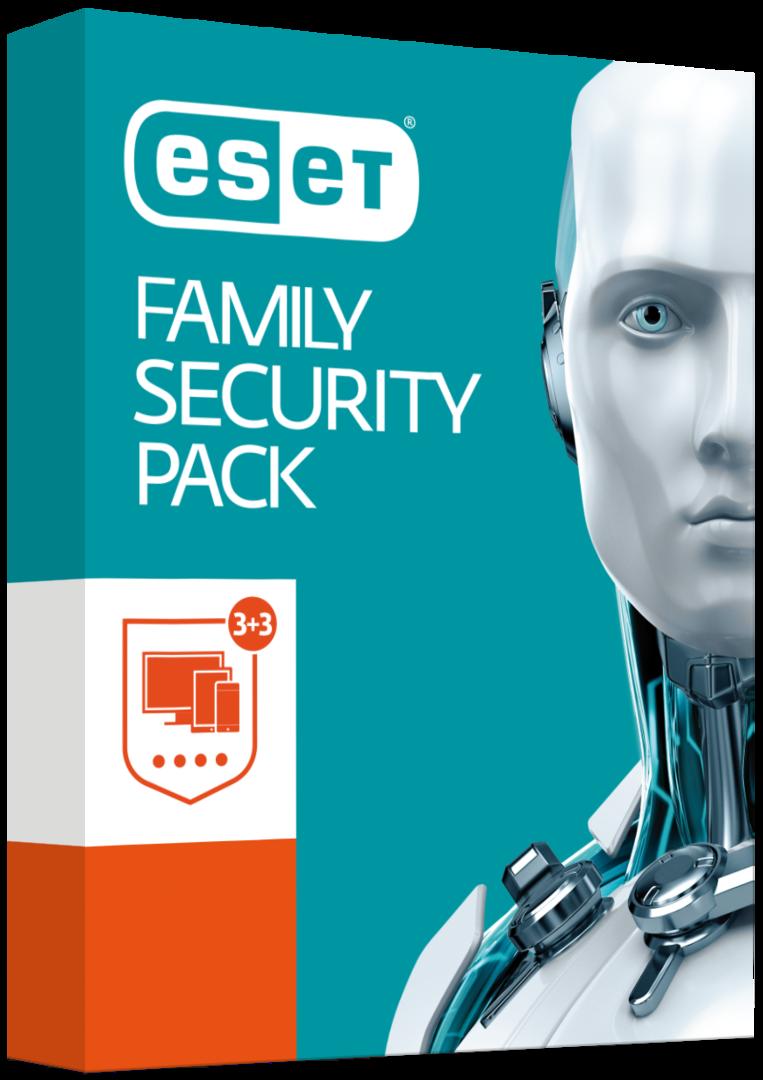 ESET Family Security Pack - 3 PC + 3 Telefony
